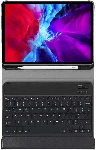 Just in Case Apple iPad Pro 12,9 inch (2020) Toetsenbord Hoes Zwart QWERTY Main Image