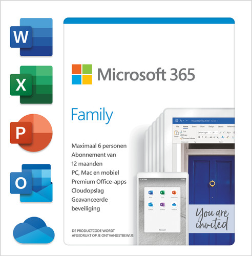 Microsoft 365 Family Subscription 1 Year NL Main Image