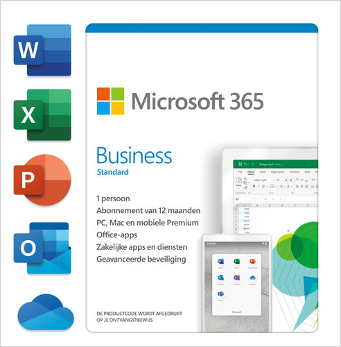 Microsoft 365 Business Standard  Subscription 1 Year EN Main Image