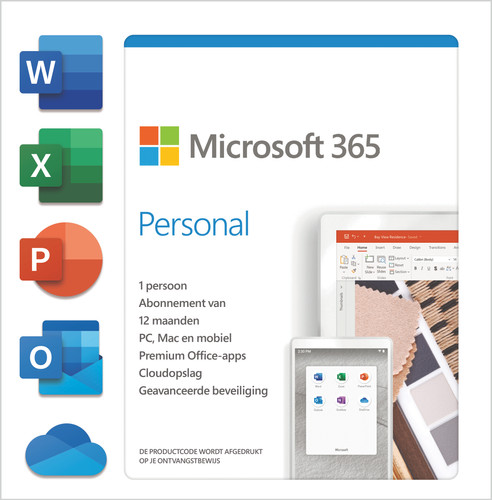 Microsoft 365 Personal Subscription 1 Year EN Main Image