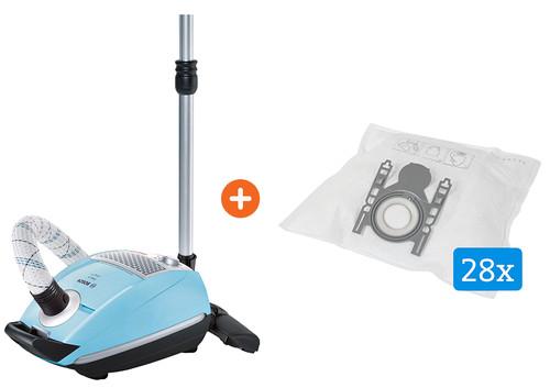 Bosch Free'e BSGL5409 + Veripart stofzuigerzakken voor Bosch