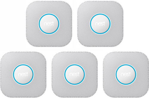 Google Nest Protect V2 (Battery) 5-pack Main Image