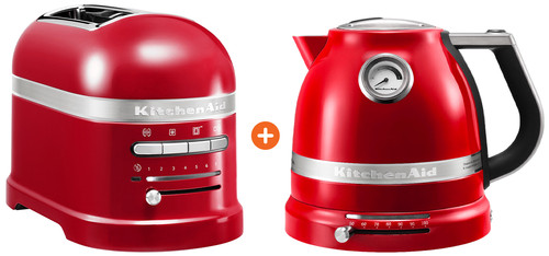 KitchenAid Artisan Toaster Empire Red + KitchenAid Artisan Kettle Empire Red Main Image