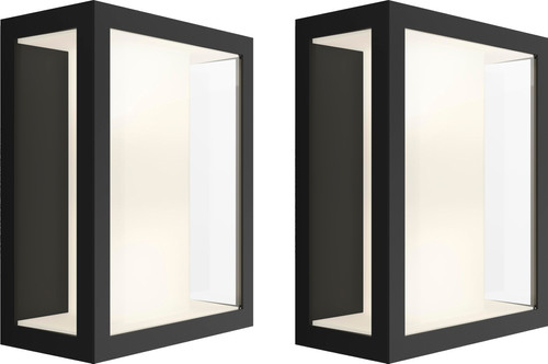 Philips Hue Impress Wall Lamp Wide Outdoors Duo Pack Main Image