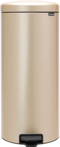 Brabantia Newlcon Pedal Trash Can 30 Liters Champagne Main Image