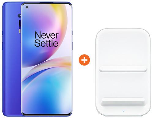 OnePlus 8 Pro 256GB Blauw 5G + OnePlus Draadloze Oplader 30W Main Image