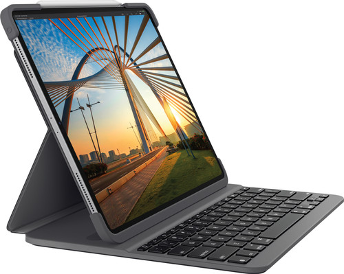 Logitech Slim Folio Pro Apple iPad Pro 11 inch Toetsenbord Hoes QWERTY Grijs Main Image