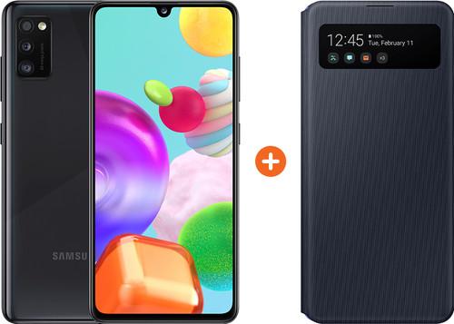 Samsung Galaxy A41 64GB Zwart + Samsung S View Book Case Zwart Main Image