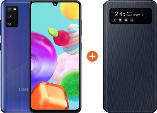 Samsung Galaxy A41 64GB Blauw + Samsung S View Book Case Zwart Main Image