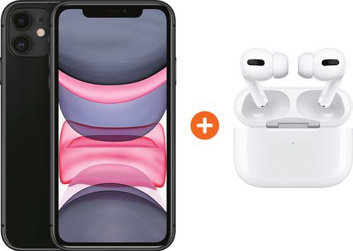 Apple iPhone 11 128 GB Zwart + Apple AirPods Pro met Draadloze Oplaadcase Main Image