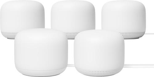 Google Nest WiFi White 5-pack Multi-room WiFi Main Image