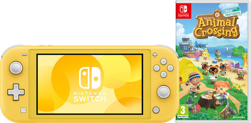 Nintendo Switch Lite Geel Animal Crossing Bundel Main Image