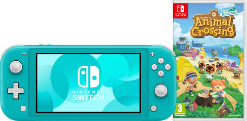 Nintendo Switch Lite Turquoise Animal Crossing Bundel Main Image