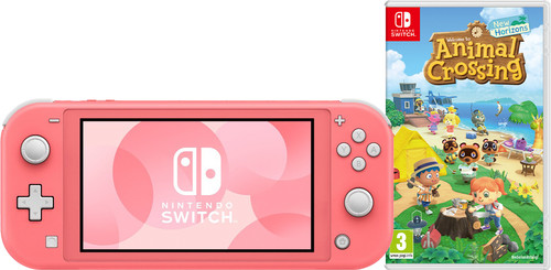 Nintendo Switch Lite Koraal Animal Crossing Bundel Main Image