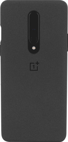 OnePlus 8 Sandstone Protective Back Cover Zwart Main Image