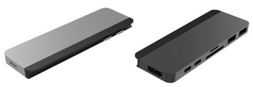 Hyper Duo Hub USB-C Gray Main Image