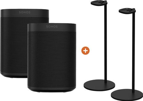 Sonos One Duo Pack + Sonos Speaker Standard Pair Black Main Image