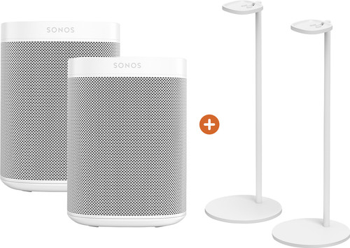 Sonos One Duo Pack + Sonos Speaker Stand Pair White Main Image