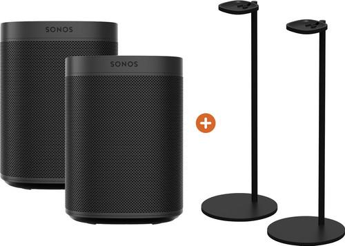 Sonos One SL Duopack + Sonos Speaker Standaard Paar Zwart Main Image