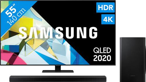Samsung QLED 55Q80T + Soundbar Main Image