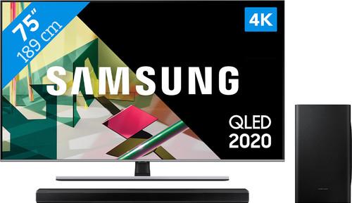 Samsung QLED 75Q74T + Soundbar Main Image