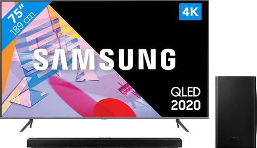 Samsung QLED 75Q64T + Soundbar Main Image