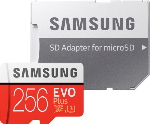 Samsung microSDXC EVO+ 256 GB 100MB/s CL 10 + SD adapter Main Image