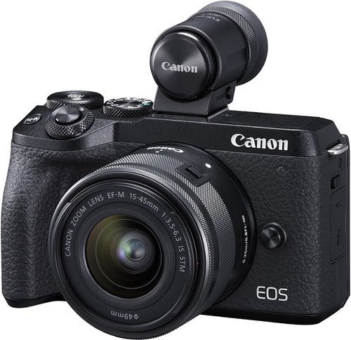 Canon EOS M6 Mark II Black + 15-45mm + EVF-DC2 Main Image