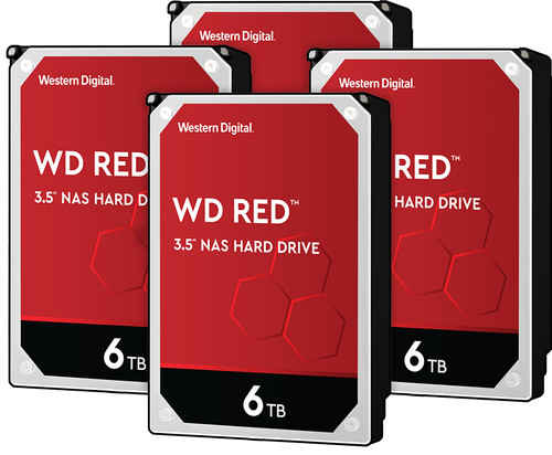 WD Red WD60EFAX 6TB 4-pack - RAID 0, 1, 5, 6 of 10 Main Image