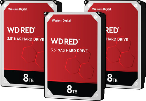 WD Red WD80EFAX 8TB 3-pack - RAID 0, 1, or 5 Main Image