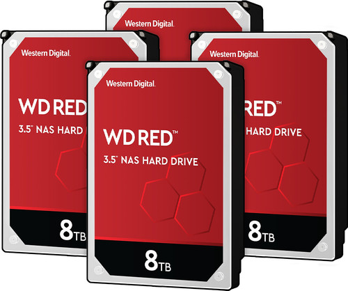 WD Red WD80EFAX 8TB 4-pack - RAID 0, 1, 5, 6, or 10 Main Image