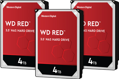 WD Red WD40EFAX 4TB 3-pack - RAID 0, 1 of 5 Main Image