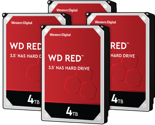 WD Red WD40EFAX 4TB 4-pack - RAID 0, 1, 5, 6 of 10 Main Image