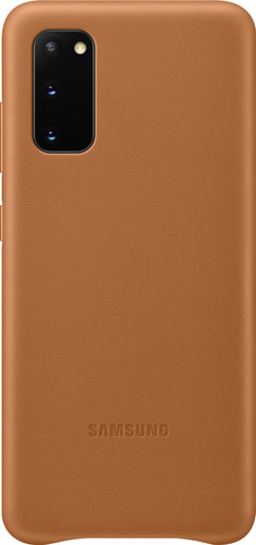 Samsung Galaxy S20 Back Cover Leer Bruin Main Image