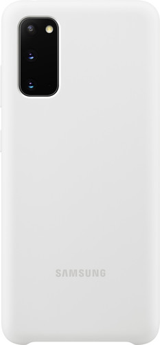 Samsung Galaxy S20 Back Cover Siliconen Wit Main Image