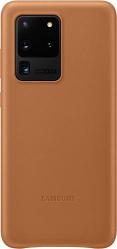 Samsung Galaxy S20 Ultra Back Cover Leer Bruin Main Image