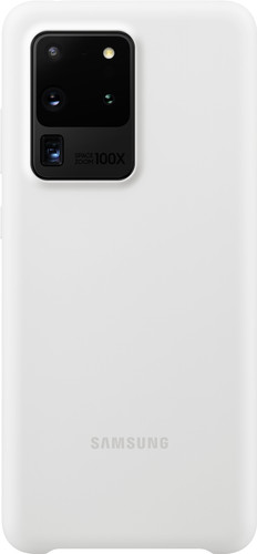 Samsung Galaxy S20 Ultra Back Cover Siliconen Wit Main Image