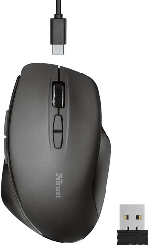 Trust Themo Wireless Chargeable Mouse Black Main Image