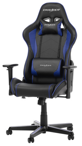 DX Racer FORMULA Gaming Chair Zwart/Blauw Main Image