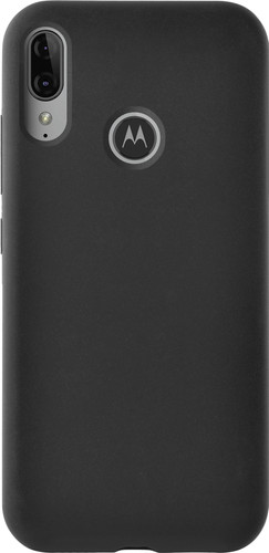 Azuri Motorola Moto E6 Plus Back Cover Siliconen Zwart Main Image