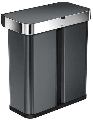 Simplehuman Liner Pocket Voice Control Recycler 24+34 liter Zwart Main Image