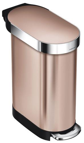 Simplehuman Slim 45 liter Rosé Goud Main Image