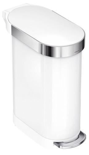 Simplehuman Slim 45 liter Wit Main Image