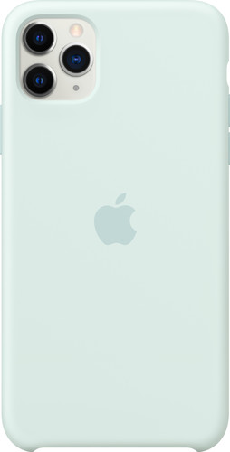 Apple iPhone 11 Pro Max Silicone Back Cover Zachtgroen Main Image
