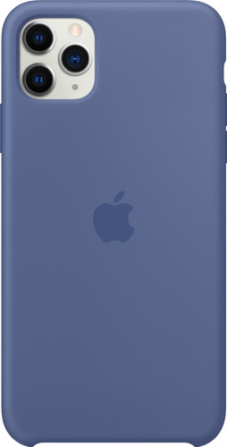 Apple iPhone 11 Pro Max Silicone Back Cover Linnenblauw Main Image
