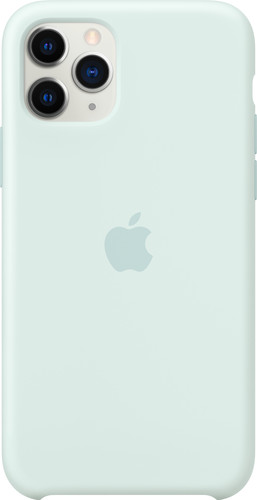 Apple iPhone 11 Pro Silicone Back Cover Zachtgroen Main Image