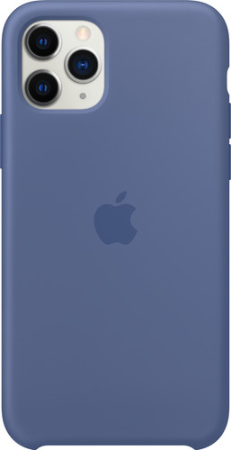 Apple iPhone 11 Pro Silicone Back Cover Linnenblauw Main Image