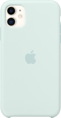 Apple iPhone 11 Silicone Back Cover Zachtgroen Main Image