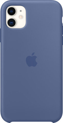 Apple iPhone 11 Silicone Back Cover Linnenblauw Main Image