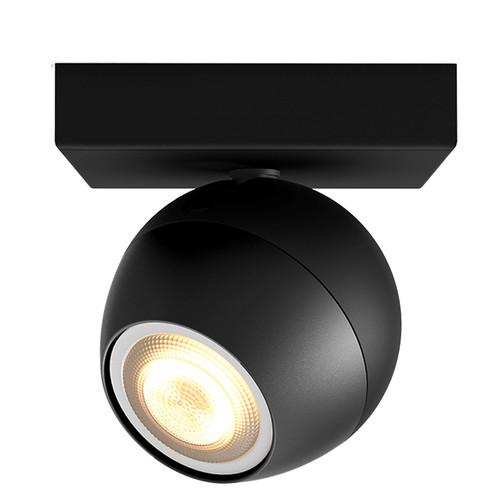 Philips Hue Buckram Mounted Spot White Ambiance 1 Light Black Bluetooth Main Image
